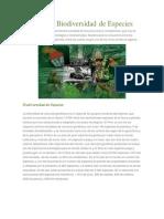 Riquezas y Biodiversidad de Especies
