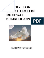 Poetry for the Church in Renewal Summer 2009