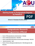 01. Starting Guide to Postgraduate Degrees by Research