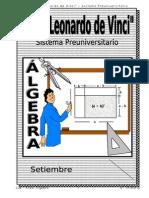 SETIEMBRE - ÁLGEBRA  - 5TO