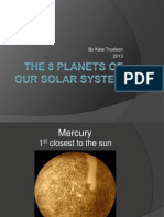 the 8 planets of our solar system
