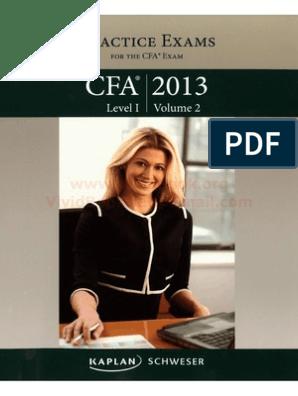 2013 CFA L1 Practice exams 2