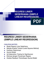 Regres Linear Sederhana