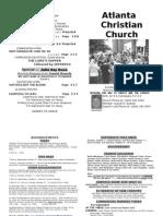 September 29, 2013 Church Bulletin