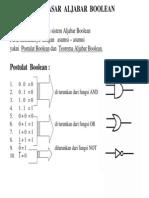 Aljabar Boolean Dan Penggunaan Gerbang Logika 2