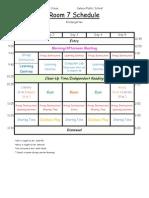ms  cross kindergarten schedule am pm