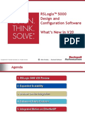 RSLogix 5000 V20 External PPT | Ethernet | Input/Output