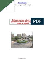 Etude-Documents sur les enjeux du paysage urbain en Algérie