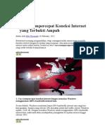 9 Cara Mempercepat Koneksi Internet Yang Terbukti Ampuh