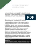 CÓDIGO DE ÉTICA PROFESIONAL INGENIERIA MECANICA