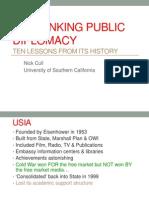 Re-Thinking Public Diplomacy