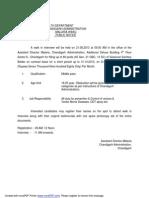 Chandigarh Health Department Recruitment Notification