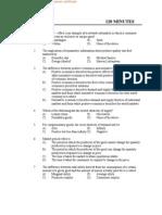 Kerala SET Exam Economics Question Paper 2011