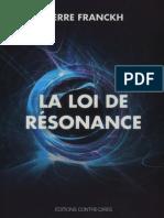Pierre Franckh - La loi de résonance [PDF]