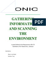 Gathering Information and Scanning the Environment