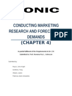 Conducting Marketing Research and Market Demands