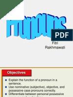 Writing 1 ( Pronoun)