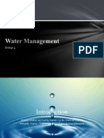 Water Management (Introduction)