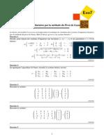 Résolution de systèmes linéaires par la méthode du Pivot de Gauss