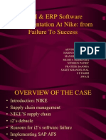 Nike Finals Erp Implementation