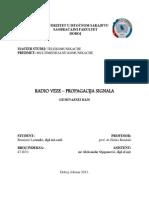 Radio Veze - Propagacija Signala_seminarski Rad