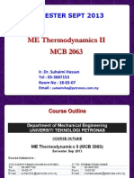 Mechanical Engineering Thermodynamics II- Lecture 01_23 Sep