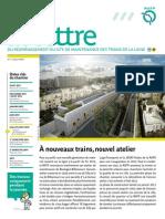 Atelier de Maintenance Ligne 9 - La Lettre n1