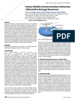 Sustainability in Wireless Mobile Communication Networks Through Alternative Energy Resources