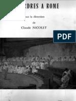 Des Ordres a Rome Sous La Direction de Nicolet PDF