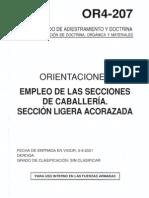Or4-207 Empleo de Las Secciones de Caballeria. Seccion Liger