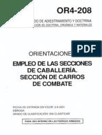 OR4-208 Empleo de Las Secciones de Caballeria. Seccion de Carros de Combate (2001)