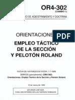 Or4-302 Cambio 1 Empleo Tactico de La Seccion y Peloton Rol