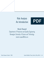 Risk Analysis types