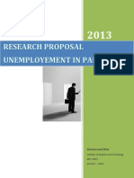 Research Proposal -Un Employement in pakistan