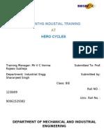 Hero Cycles Training Report