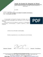 Oficio XVI Copa Brasil de Karate GojuRyu c