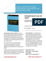 Strength Based Lean Six Sigma book Flyer