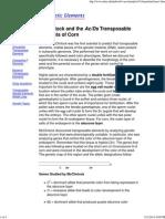 Transposable Genetic Elements