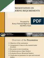 KeNHA Presentation on Tendering Requirements