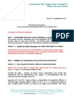 Premieres Observations Sur Les 34 Actions Du Projet PDUIF Annexe