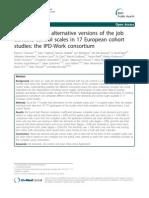 Comparison of alternative versions of the job  demand-control scales