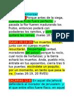 Versículos a memorizar