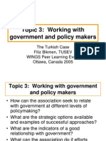 Working with government and policy makers.ppt