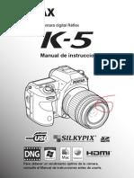 Manual del ususario de Pentax K-5 (español)