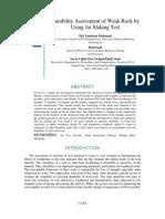 Durability Assessment of Weak Rock by Using Jar Slaking Test