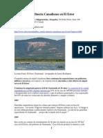 La Minería Canadiense en El Estor