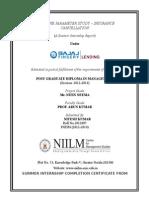 Bajaj-- Project Report-- Nitesh Kumar Intern-bajaj Finserv Mumbai--niilm-cms Greater Noida