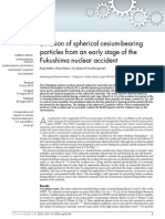 Emission of spherical cesium-bearing particles from an early stage of the Fukushima nuclear accident