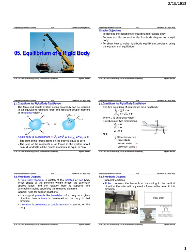 Ch05 equilibrium of a rigid body force chemical equilibrium pooptronica