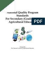 National Ag Ed Standards